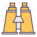 Binocular Camping Glass Icon