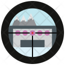 Mountains Binocular View Icon