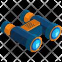 Binoculars Isometric Icon