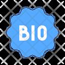 Bio Label Tag Icon