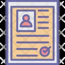 Biodata Icon