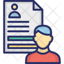 Biodata Curriculum Vitae Cv Icon