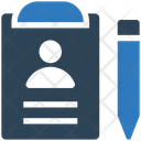 Biodata Profile Resume Icon