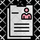 Biodata Cv Job Applicant Icon