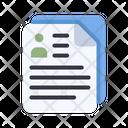 Biodata Cv Cv Resume Icon