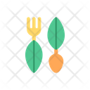 Biodegradable Cutlery Ecology Icon