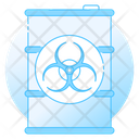 Biohazard Chemical Barrel Chemical Container Icon