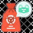 Self Protection Garbage Bag Icon