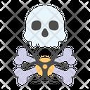 Biohazard Skull Icon