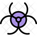 Biohazard Spaces Science Icon