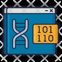 Bioinformatics Data Science Extraction Icon