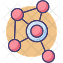 Mbiological Network Biological Network Cell Icon