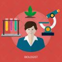 Biologist Human Profession Icon