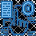 Biomatic Sensor Artificial Intelligence Icon