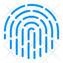Biometric Fingerprint Touch Icon