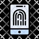 Biometric Fingerprint Lock Icon