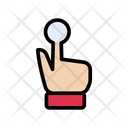 Biometric Fingerprint Security Icon