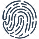 Biometric Fingerprint Icon