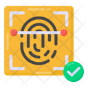 Finger Verification Biometric Finger Recognition Icon