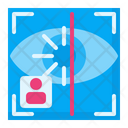 Biometric Eye Recognition Identification Icon