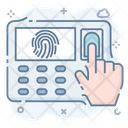 Biometric Attendance Fingerprint Scanning Fingerprint Verification Icon