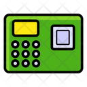 Biometric Attendance Fingerprint Scanning Attendance Machine Icon