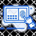 Fingerprint Scanner Thumb Scanner Biometric Machine Icon