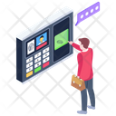Attendance Machine Biometric Attendance Biometric Machine Icon