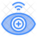 Biometric Data Technology Eye Scanner Icon