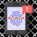 Biometric Alert Biometric Error Fingerprint Alert Icon