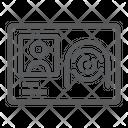 Biometric Id Card Icon
