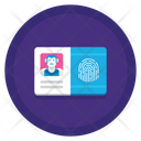 Biometric Id Card Icon