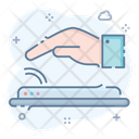 Palmprint Biometric Hand Dactylogram Icon