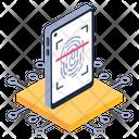 Mobile Fingerprint Biometric Security Biometric Scanning Icon