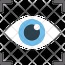 Biometric Scanning Eye Scanning Eye Tracking Icon