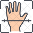 Bio Metric Hand Recognition Icon