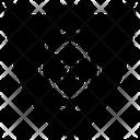 Biometric Shield Icon