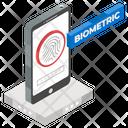 Fingerprint Sensor Finger Authentication Biometric Technology Icon