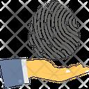Authentic Data Biometric Verification Data Verification Icon