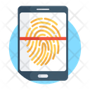 Fingerprint Scanner Biometric Verification Fingerprint Reader Icon