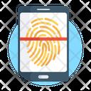 Fingerprint Scanner Biometric Verification Fingerprint Reader Icon
