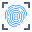Biometric Verification Thumb Scanning Thumb Verification Icon