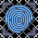 Biometric Verification Thumb Scanning Thumb Verification Icon