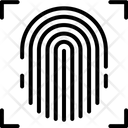 Biometrics Fingerprint Identity Icon