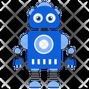 Nano Robot Bionic Man Humanoid Icon