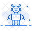 Bionic Man Humanoid Artificial Intelligence Icon