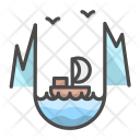 Bird Building Landscape Icon
