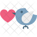 Bird Dove With Rose Flying Dove Icon