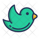 Bird Flying Announcement Icon