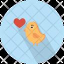 Bird Love Heart Icon